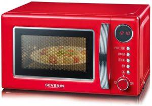 microondas severin rojo con grill